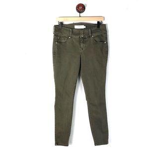 Torrid 10 Jeans jeggings olive green skinny
